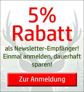 5% Rabatt für Ihre Newsletter Anmeldung